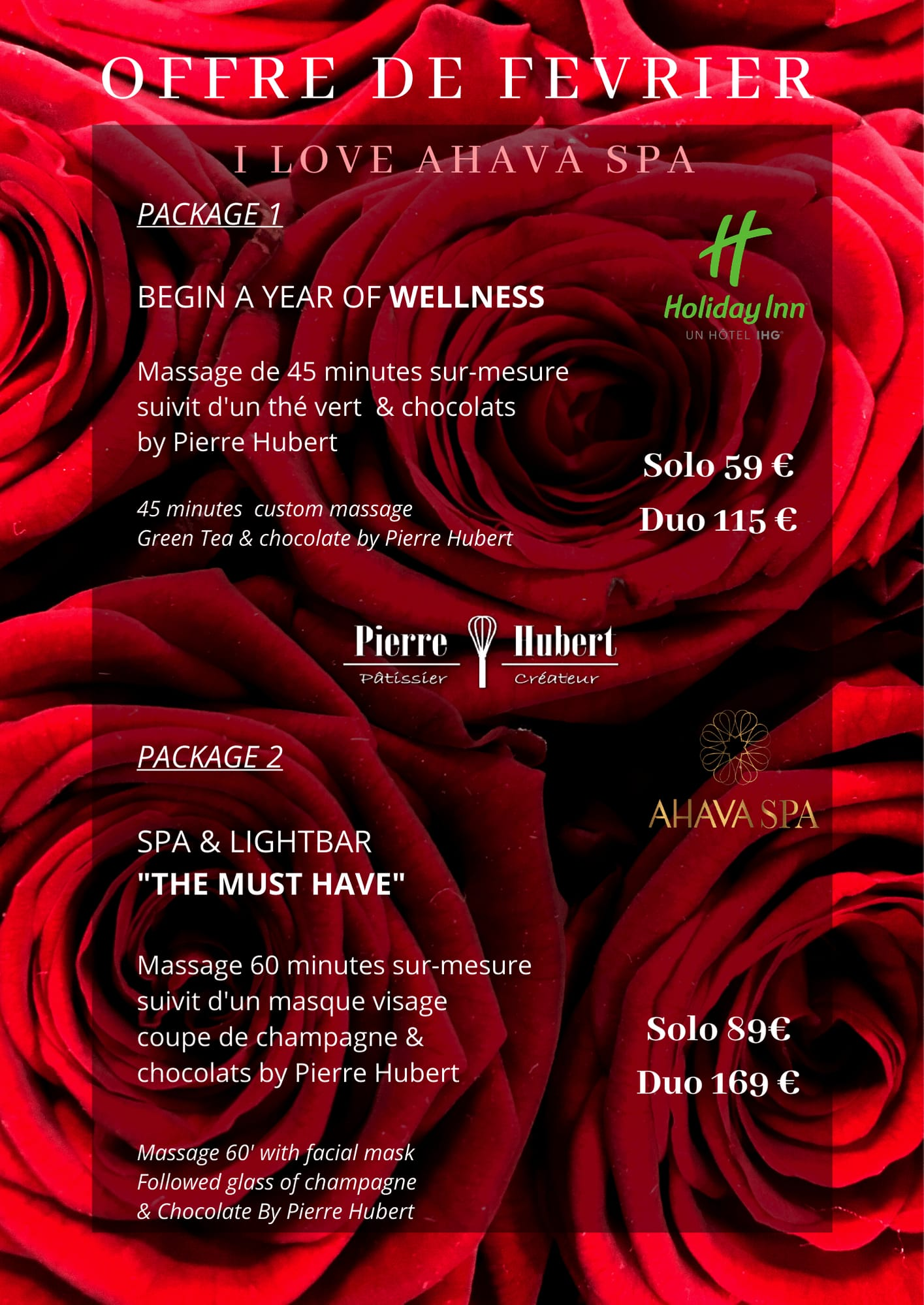 Offre Saint-Valentin 2020 SPA Holiday Inn Dijon